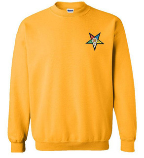DISCOUNT-Order Of Eastern Star  Patch  Crewneck