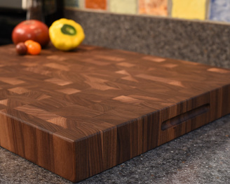 CKTG Walnut End Grain Board 22 x 16 x 2