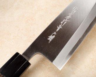 Itsuo Doi Blue Steel Deba 180mm Ebony