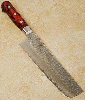 Takayuki Damascus Hammered Nakiri 160mm
