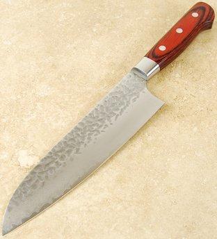 Takayuki Damascus Hammered Santoku 180mm