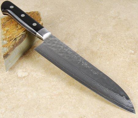 Kikuichi Warikomi Damascus Santoku 180mm