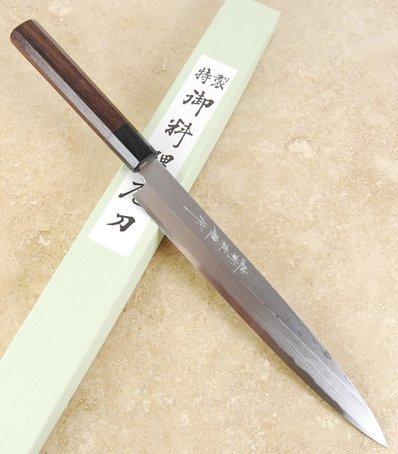 Kitaoka Damascus Yanagiba 240mm White #1