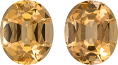 Fiery Golden Brazilian Topaz Stones in Well Matched Pair in Oval Cut, 10.9 x 8.9 mm, 8.81 Carats