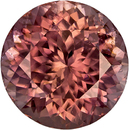 Vibrant Rose Brown Ceylon Zircon Loose Gem in Round Cut, 8.7 mm, 4.06 Carats