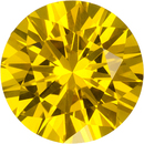 Rich Vibrant Yellow Ceylon Sapphire Loose Gem in Round Cut, 6.5 mm, 1.2 Carats