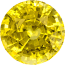 Unheated Pure Yellow Sapphire Loose Gem in Round Cut, 8.1 x 8.0 mm, 2.76 Carats - With GIA Certficate