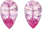 Pure Pink Spinel Vietnam in Well Matched Pair in Pear Cut, 8.2 x 5.2 mm, 1.85 Carats