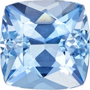 Blue Aquamarine Natural Gemstone from Mozambique in Antique Square Cut, 7.6 mm, 1.79 Carats