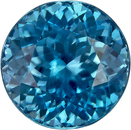 Fiery Teal Blue Zircon Cambodia Genuine Gem in Round Cut, 6.5 mm, 1.85 Carats - SOLD