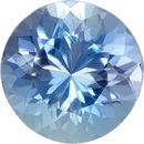 Incredible Deep Blue Aquamarine Mozambique Natural Gemstone in Round Cut, 9.1 mm, 2.81 Carats