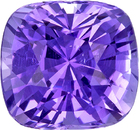 No Heat Vibrant Lavender Purple Sapphire from Ceylon in Antique Square Cut, 7.7 x 7.3 mm, 2.56 Carats - With GIA Certficate