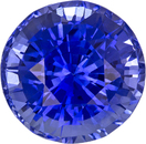 Rich Vibrant Blue Sapphire Natural Ceylon Gemstone in Round Cut, 7.8 mm, 2.71 Carats