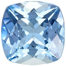 Strong Blue Aquamarine Loose Gem from Mozambique in Antique Square Cut, 8 mm, 1.94 Carats