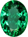 Strong Green Emerald Genuine Brazilian Gem in Oval Cut, 8.5 x 6.5 mm, 1.29 Carats