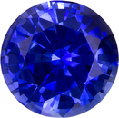 Vibrant Rich Ceylon Blue Sapphire Natural Gemstone in Round Cut, 6.3 mm, 1.16 Carats