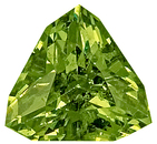 Very Bright, Amazing Cut Beautiful Green Demantoid Garnet Gem, Trillion Cut, 8.3 x 8.2 mm, 2.11 carats