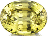 Stunning Greenish Yellow Color in Genuine Chrysoberyl Loose Gem in Oval Cut, 20.25 x 15.16 mm, 28.03 carats with GIA Certificate