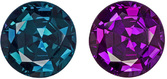 Neon Like Color in Loose Real Alexandrite for SALE - GIA Certified, Round, 6.6 mm, 1.29 carats