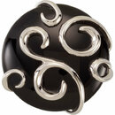 Sterling Silver Onyx Scroll Ring