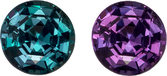 Loose Round Alexandrite Super Fine Gem in Round Cut, 100% Color Change from Open Blue Green to Pure Eggplant, 4.0 mm, 0.36 carats