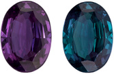 Top Gem Real Brazilian Alexandrite Stone in Oval Cut, Teal Blue Green to Burgundy, 6.1 x 4.4 mm, 0.5 carats