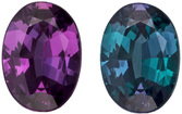Extremely Fine Brazilian Origin Alexandrite Gemstone in Oval Cut, Strong Color Change Teal Green to Burgundy Eggplant, 6 x 4.3 mm, 0.47 carats