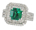Fantastic 2 carat Emerald set in a Pave Diamond Custom Ring - Amazing Color - SOLD