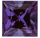 Grade GEM CHATHAM CREATED ALEXANDRITE Princess Cut Gems  - Calibrated