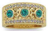 Glorious Alexandrite Vintage Band Featuring Genuine .65cts 3.80 mm Alexandrite & Diamond in 14 kt Yellow Gold for SALE