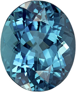Amazing Blue Teal Tourmaline Brazilian Origin Natural Gemstone in Oval Cut, 10.9 x 9.1 mm, 4.06 Carats