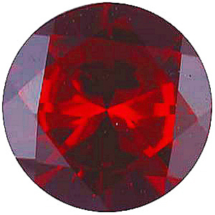 Imitation Red Garnet Round Cut Gems