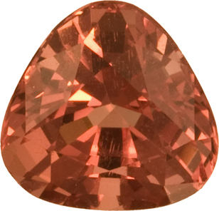 Unusual Spinel Loose Gem in Soft Trillion Cut, Peachy Orange, 7.2 mm, 1.72 carats - SOLD