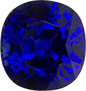 Gorgeous Blue Unheated Sapphire with GRS Certificate for SALE! Cushion Cut, 7.1 x 6.7 mm, 1.97 carats - SOLD
