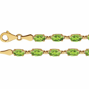 14KT Yellow Gold Peridot 7