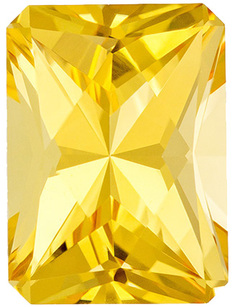 Eye Catching Topaz Loose Gemstone in Radiant Cut, Rich Sunny Golden, 9.8 x 7.2 mm, 3.5 carats
