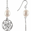 WIREBACK PEARL EARRINGS