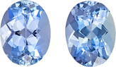 Fiery Deep Blue Aquamarine Pair in Oval Cut, Intense Rich Blue Color in 8 x 6 mm, 2.49 carats
