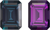 Special Blue Green to Fiery Eggplant Alexandrite Brailian Genuine Gem in Emerald Cut, 6.5 x 4.8 mm, 0.97 Carats - With Gubelin Certificate