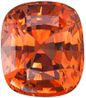 Rare and Unusual - Orange Sapphire Gemstone from Ceylon- with AGL Cert, Cushion Cut, 2.56 carats