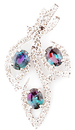 Beautiful Nature Inspired Brazilian Alexandrite Pendant with Diamond Accents in 14k White Gold  - 1.07 carats, 4.40 x 3.83 mm