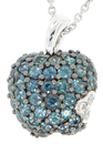 Genuine Alexandrite Apple Pave & Diamond Pendant in 18 kt White Gold - SOLD