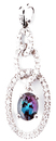 Stylish Chain Link Style Brazilian Alexandrite and Diamond Pendant in 14k White Gold  for SALE - 0.79 carats, 7.05 x 4.96 mm