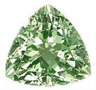 Classic Lemony Green Beryl Genuine Gem for SALE, Trillion Cut, 3.96 carats --SOLD--