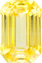 Stunning Unheated Emerald Cut Yellow Sapphire in a Medium Tone Pure Yellow Color, 9.6 x 6.4 mm, 3.51 carats - With GIA Cert.