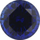 Deal On Sapphire Loose Gem in Round Cut,  Vibrant Violet Blue, 6.92 mm, 1.75 Carats