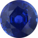 Sharp Sapphire Loose Gem in Round Cut,  Vibrant Violet Blue, 5.84 mm, 1.02 Carats