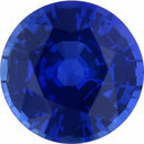 Eye-Catching Sapphire Loose Gem in Round Cut,  Vibrant Blue Violet, 5.77 mm, 0.91 Carats