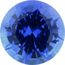 Special Sapphire Loose Gem in Round Cut, Light Violet Blue, 5.92 mm, 1.01 Carats