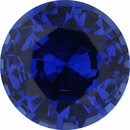 Faceted Sapphire Loose Gem in Round Cut, Medium Violet Blue, 7.16 mm, 1.64 Carats